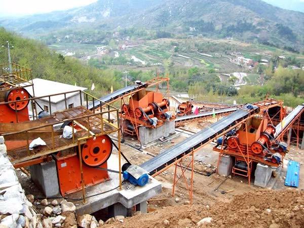 山东淄博日产500吨河卵石制砂生产线