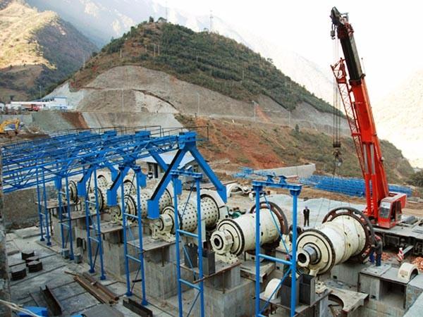 四川磷矿石选矿生产现场